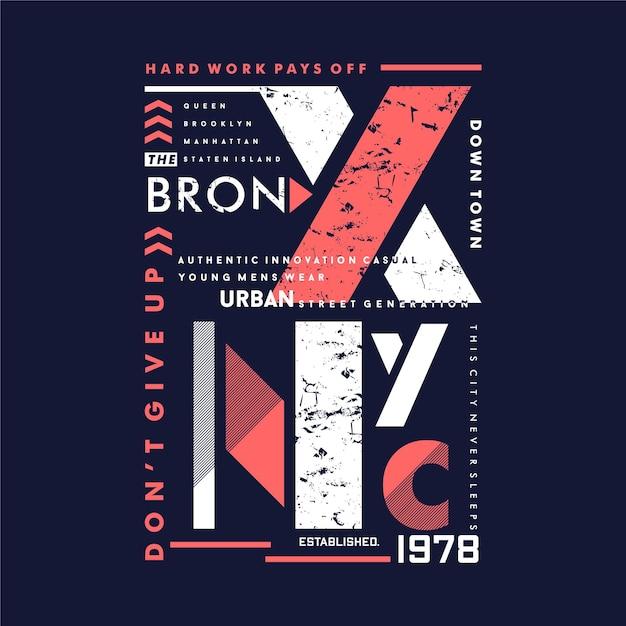 Le Bronx Tnew York City Vecteur Premium