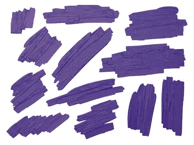 Brosse violette attiser la texture sur fond blanc Vecteur Premium