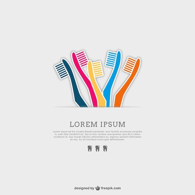 Brosses à Dents Ensemble De Vecteurs Vecteur Premium