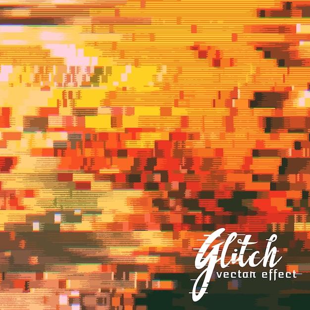 Brouillé Glitch Effect Vector Background Vecteur gratuit