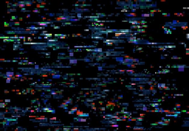 Bruit De Glitch Des Pixels Du Téléviseur Sur Fond D'écran Numérique Vecteur Premium