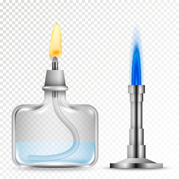 Brûleurs Pour équipements Chimiques Vecteur Premium