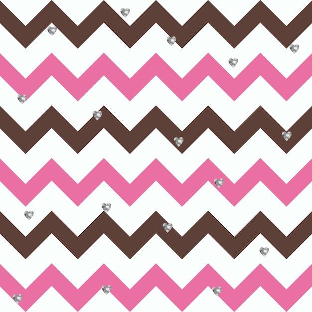 Bubblegum chocolate zigzag pattern Vecteur Premium