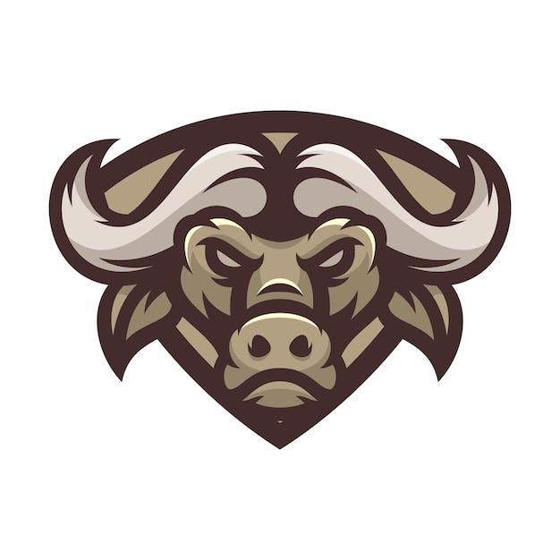 Buffalo - Vector Logo / Icône Illustration Mascotte Vecteur Premium