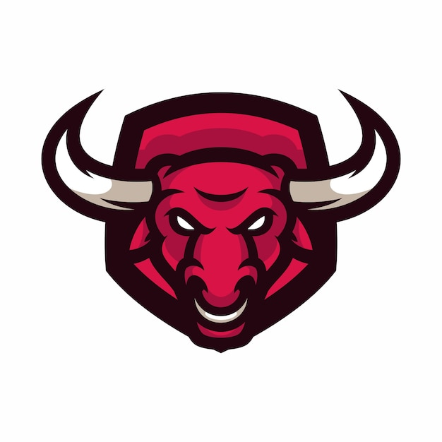 Bull - Vecteur Logo / Icône Illustration Mascotte Vecteur Premium