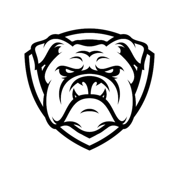 Bulldog animal sport mascot head logo vector Vecteur Premium