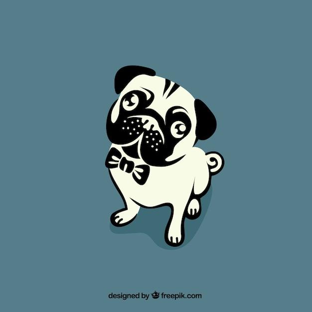Bulldog Aperçu Vecteur Premium