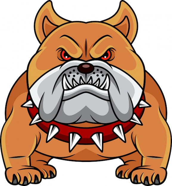 Bulldog cartoon Vecteur Premium