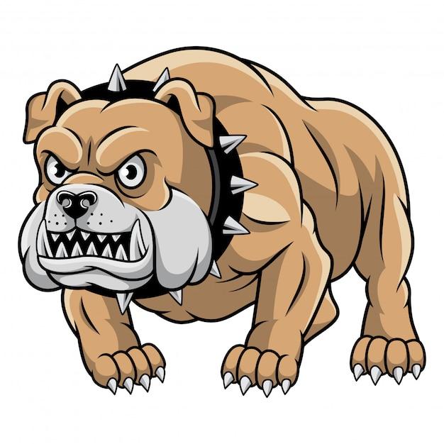 Bulldog mascotte illustration vectorielle Vecteur Premium