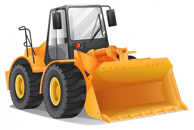 Bulldozer Vecteur gratuit