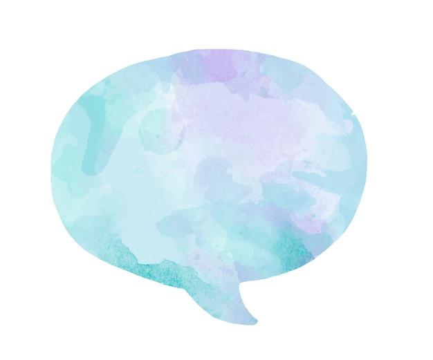 Bulle de dialogue aquarelle colorée Vecteur gratuit