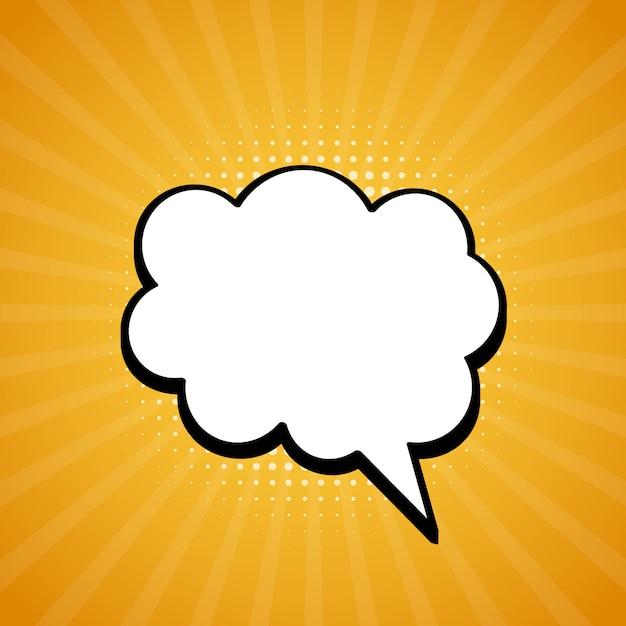 Bulle de dialogue comique. retro éclate dans un style pop. Vecteur Premium
