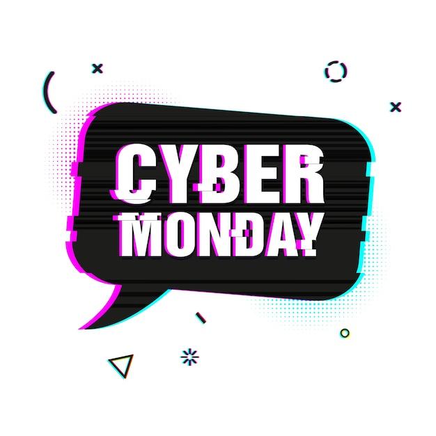 Bulle De Dialogue Pour L'offre Cyber Lundi. Vecteur Premium
