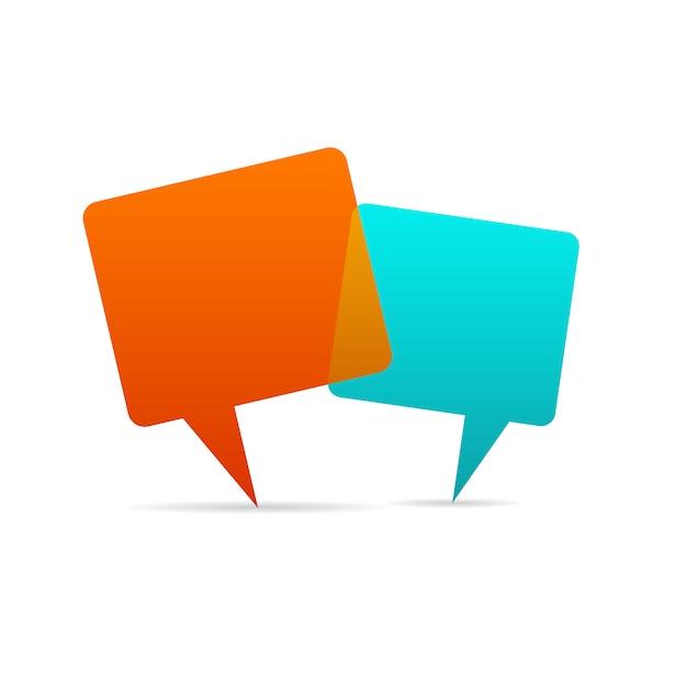 Bulle de dialogue vecteur. Vecteur Premium