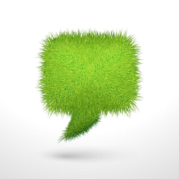 Bulle d'herbe verte isolée Vecteur gratuit