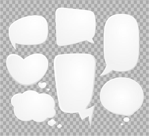 Bulles bd sur demi-teintes transparentes. Vecteur Premium