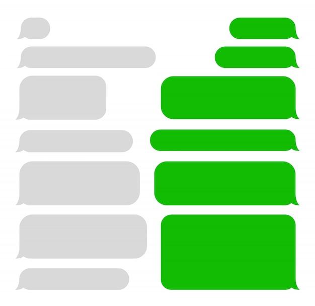 Bulles De Messages Courts. Sms. Bulles. Vecteur Premium