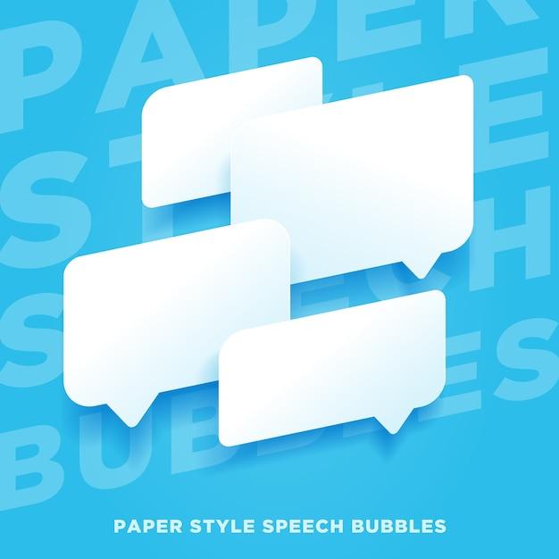 Bulles De Style Papier Vecteur Premium