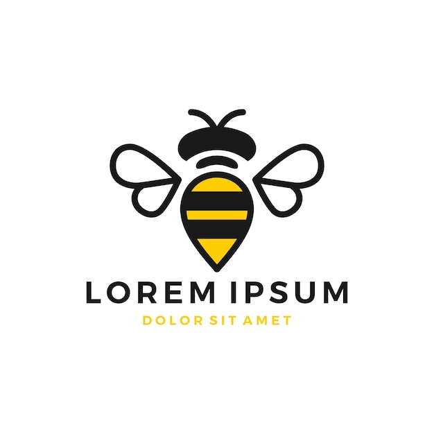 Bumble Bee Logo Vecteur Premium