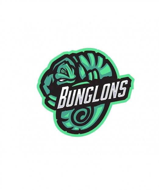Bunglons sports logo Vecteur Premium