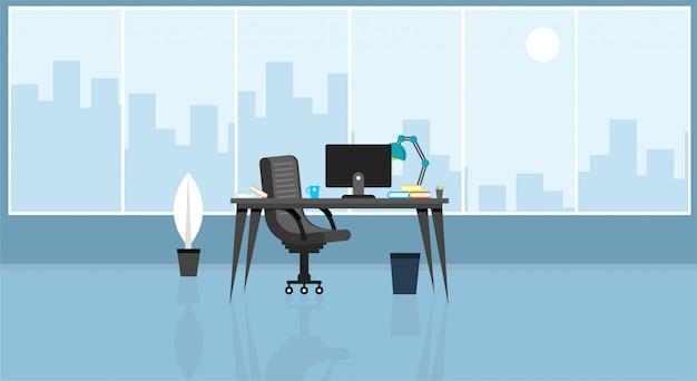 Bureau D'apprentissage Et D'enseignement Pour Travailler à L'aide D'une Illustration Vectorielle De Programme De Conception Vecteur Premium