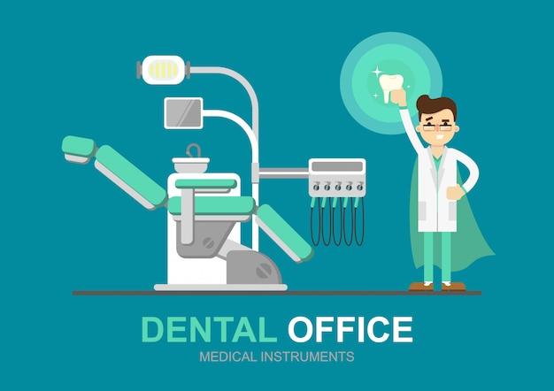 Bureau de dentiste Vecteur Premium