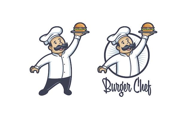 Burger Chef Vecteur Premium