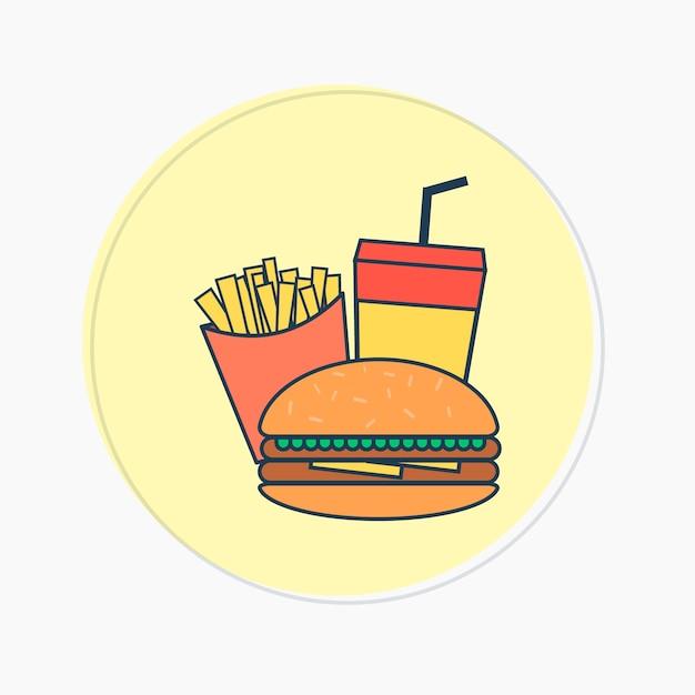 Burger Et Frites Logo Vecteur Premium