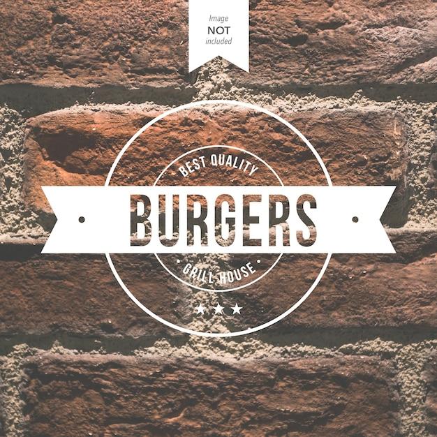 Burger Logo Vecteur gratuit