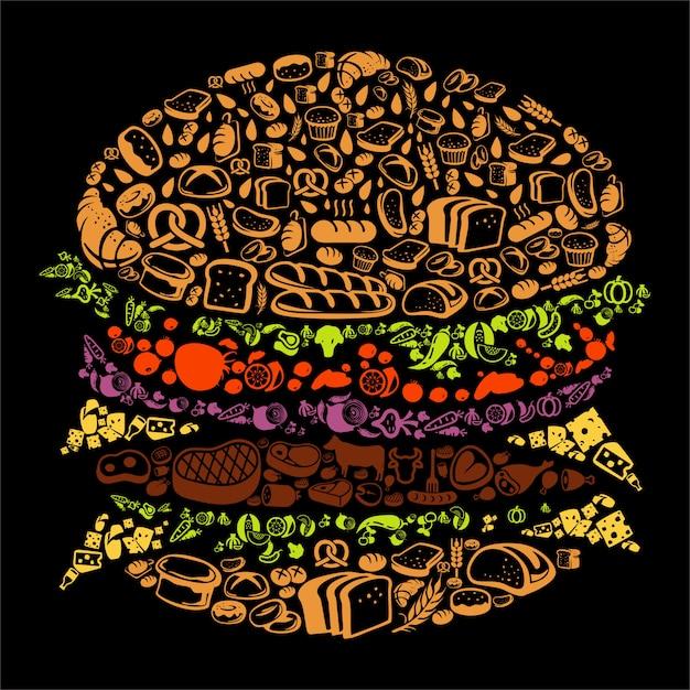 Burger Vecteur Premium
