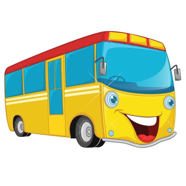 Bus De Dessin Animé Télécharger Des Vecteurs Premium