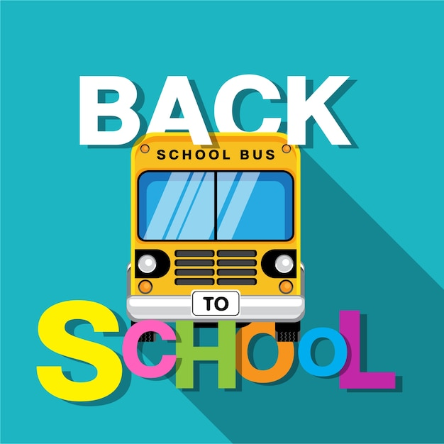 Bus scolaire Vecteur Premium