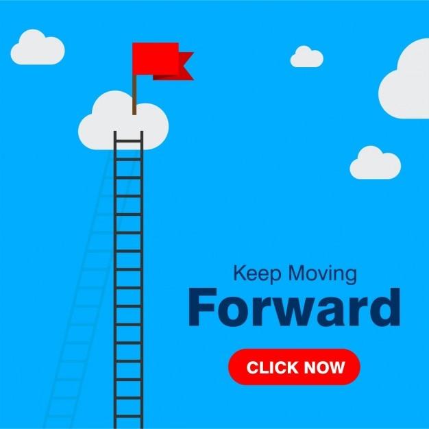 Business Concept Keep Moving Forward Vecteur gratuit