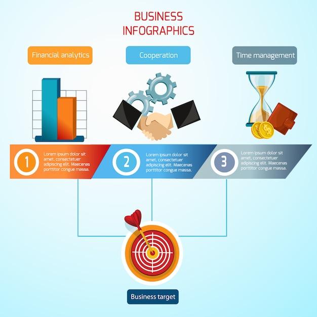 Business infographics set Vecteur gratuit