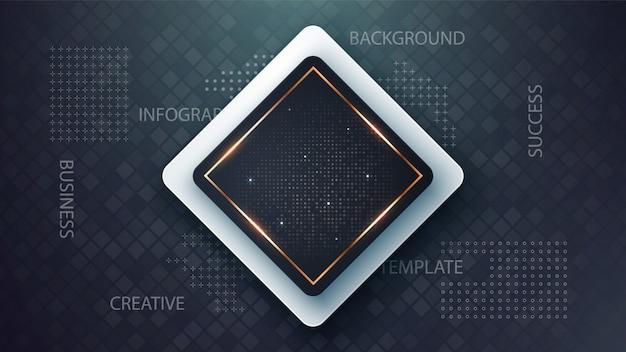 Business paper template - idée d'infographie Vecteur Premium