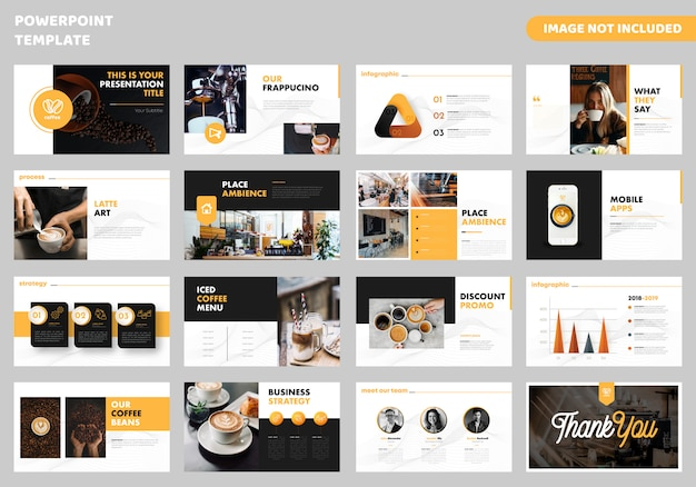 Business powerpoint template Vecteur Premium
