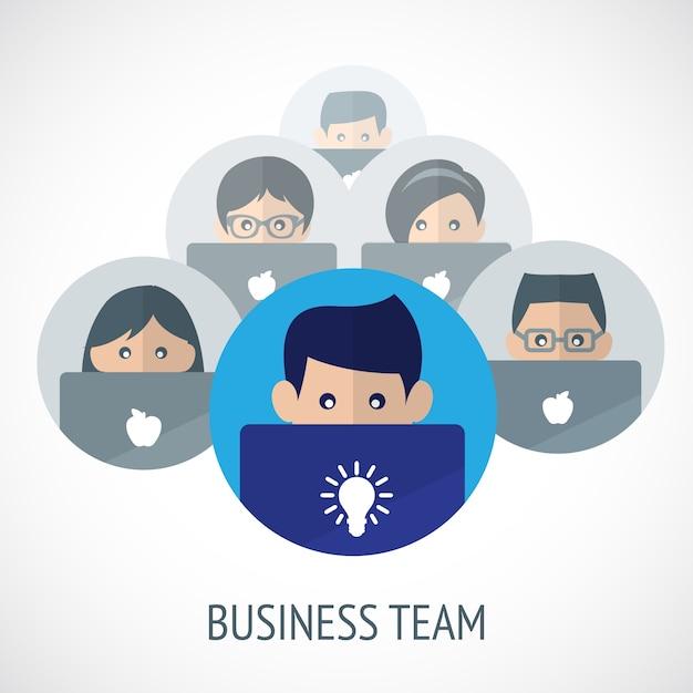 Business team Vecteur gratuit