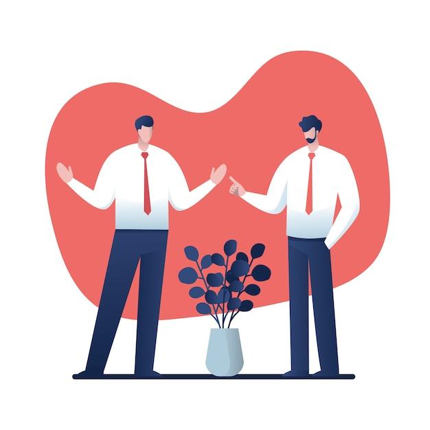 Businessmen consulting .cartoon pour les entreprises Vecteur Premium