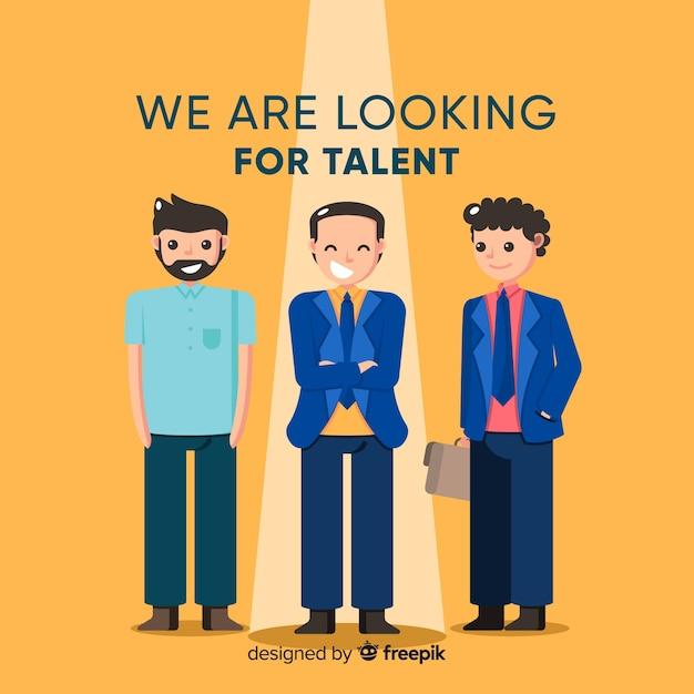 Bussinessman à la recherche de talent Vecteur gratuit