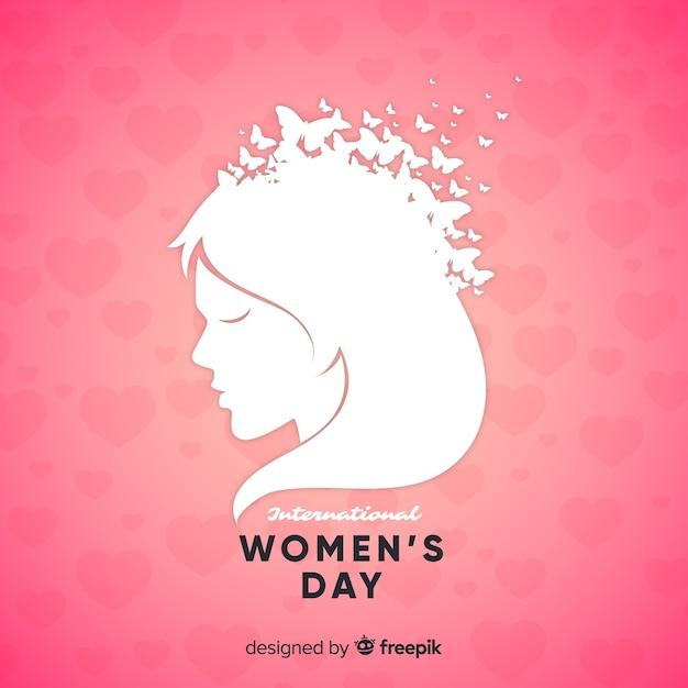 Buste de fille fond de jour des femmes Vecteur gratuit