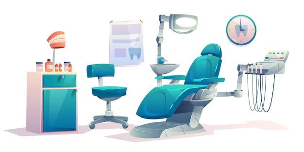 Cabinet dentaire de cabinet de dentiste Vecteur gratuit