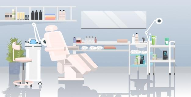 Cabinet D'esthéticienne Avec Machine D'épilation Laser Et Fauteuil Vecteur Premium