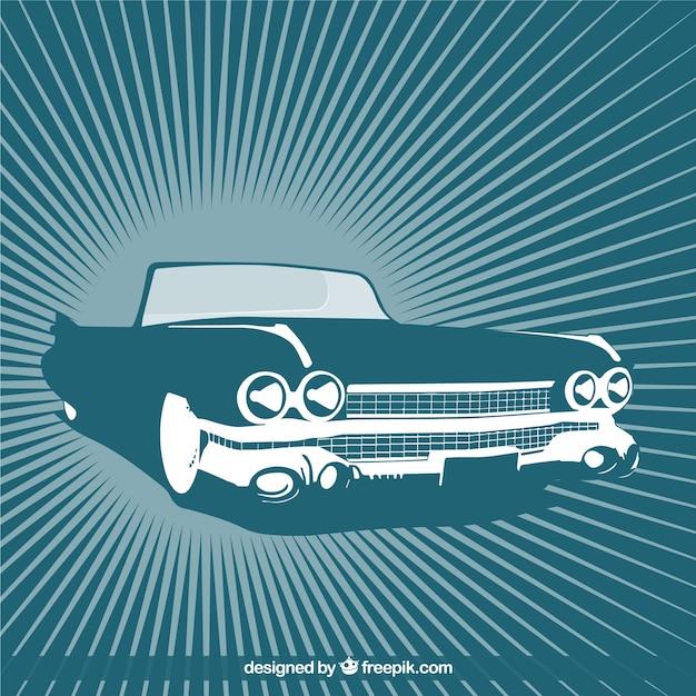 Cabriolet retro Vecteur gratuit