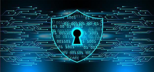 Cadenas fermé sur fond numérique, cybersécurité Vecteur Premium