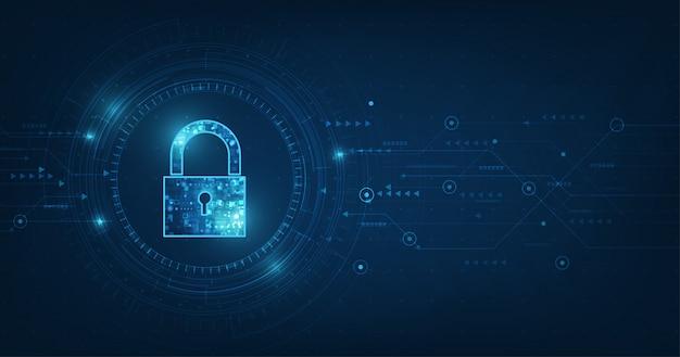 Cadenas Avec Icône De Trou De Serrure Dans La Sécurité Des Données Personnelles Illustre Une Idée De Confidentialité Des Cyberdonnées Ou Des Informations Vecteur Premium