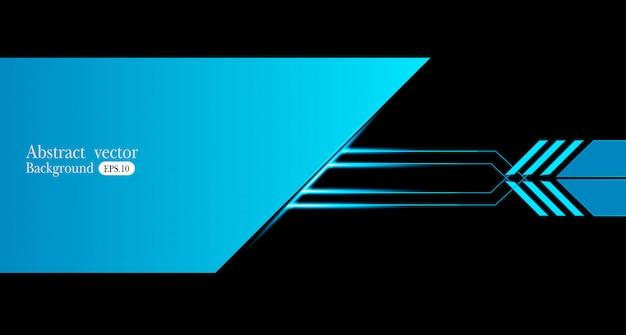 Cadre abstrait bleu métallique noir design innovation concept mise en page Vecteur Premium