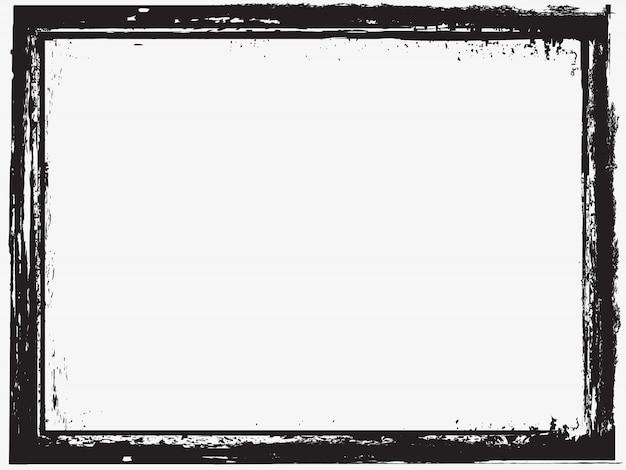 Cadre abstrait grunge Vecteur Premium