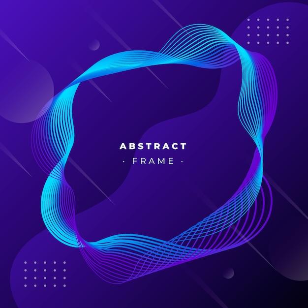 Cadre abstrait avec lignes dynamiques Vecteur gratuit