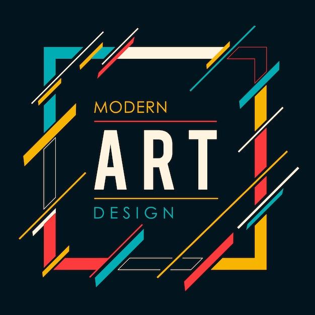 Cadre d'art moderne Vecteur Premium