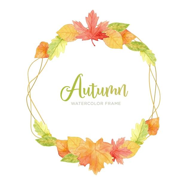 Cadre D'automne Moderne Vecteur gratuit